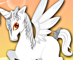 My Baby Unicorn game in flash