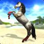 Bellissimo cavallo bianco su Star Stable il gioco di cavalli