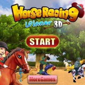 Horse racing winner 3D
