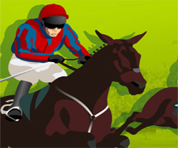 Horse racing game in flash